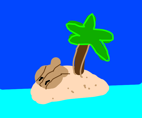 clam on an island