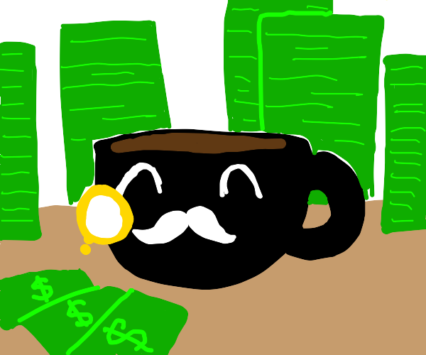 coffee cup is rich
