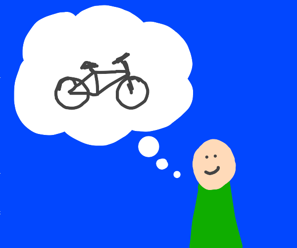 person thinking about bike