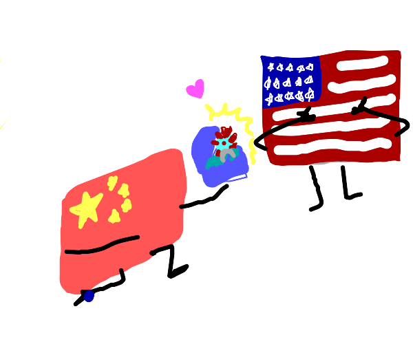 China proposed to the US. With covid ring.