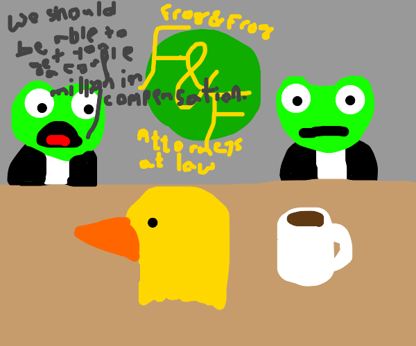 Frog and frog with duck head
