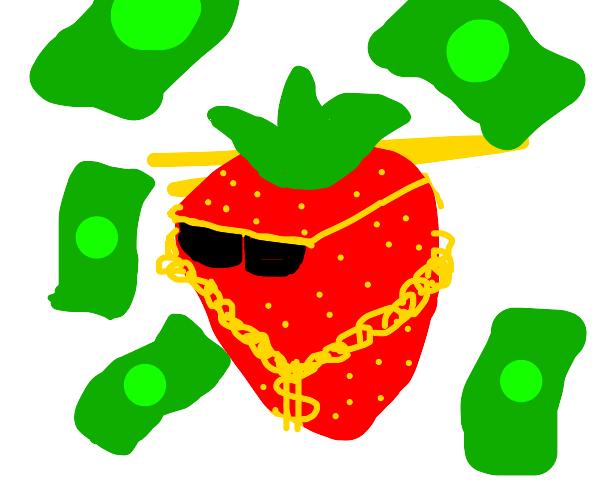 strawberry has money