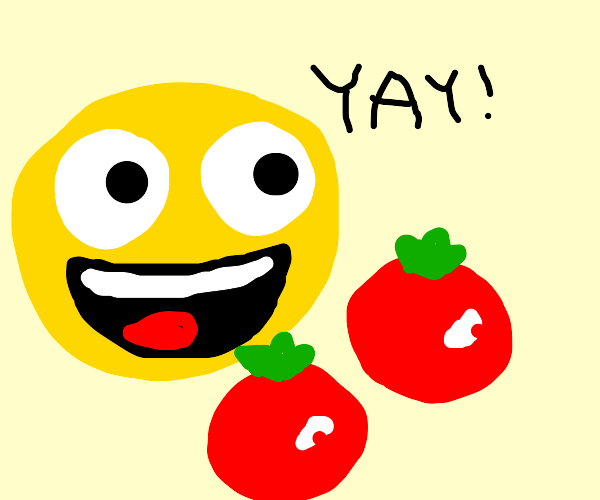 happy for tomatoes