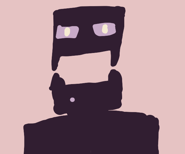 Angry enderman (minecraft)