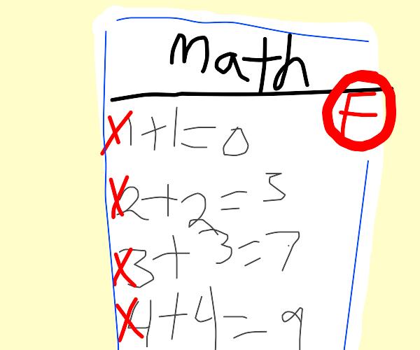 Doing math homework and failing