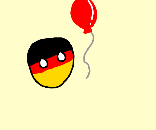 Germany ball has a Red balloon