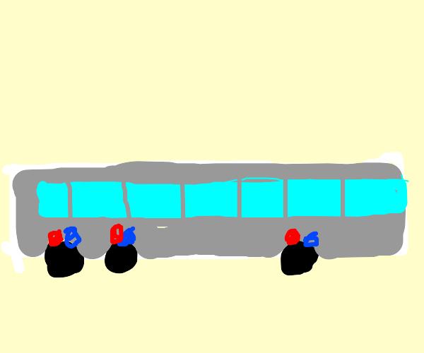 Bus wheel police