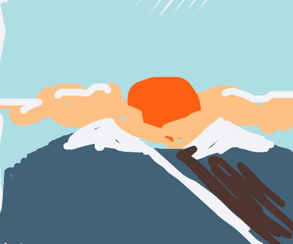 sunrise on the mountaintops