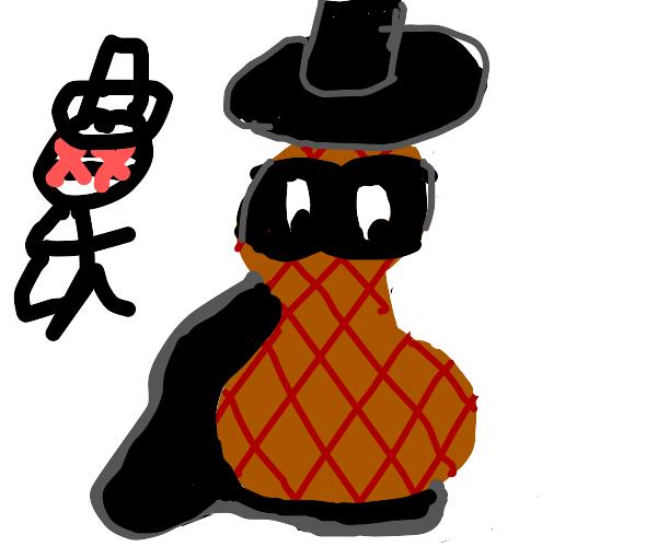 Peanut guy is now Zorro, real Zorro is dead