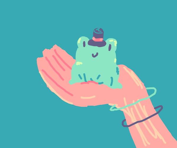 Hand-held froggy
