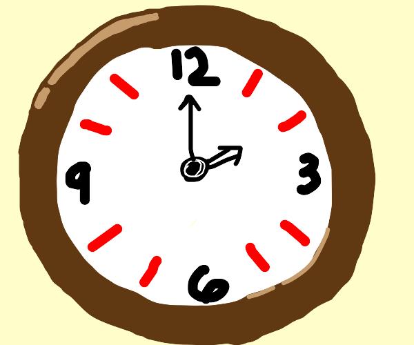 clock at 2