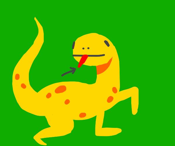 Tongue of Yellow Lizard