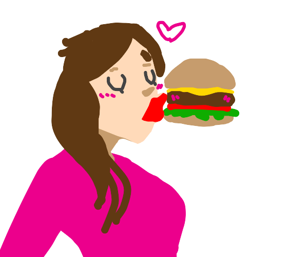making out with a burger