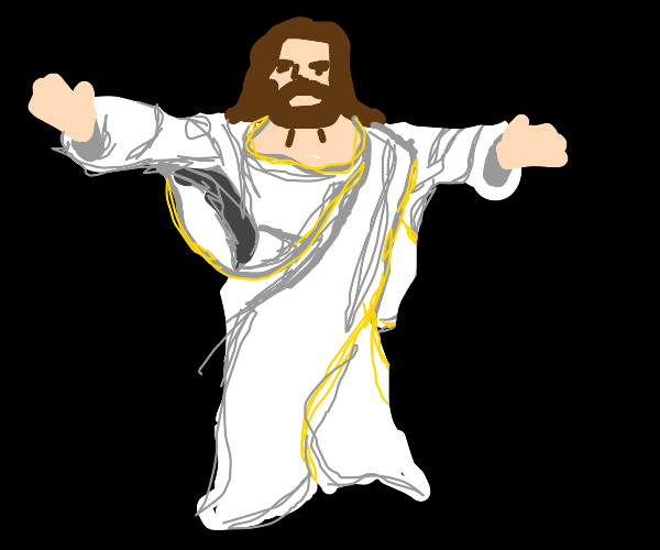 Jesus with arms out