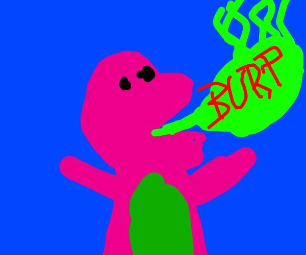 Barney burping