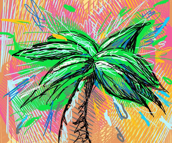 A palm tree is exploding!