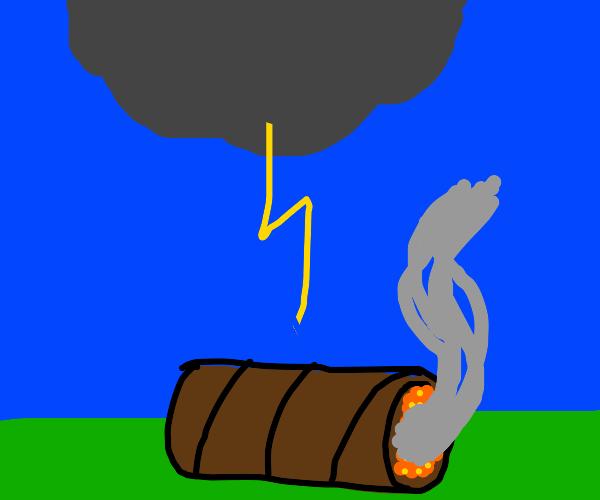 Cigar in a Thunderstorm