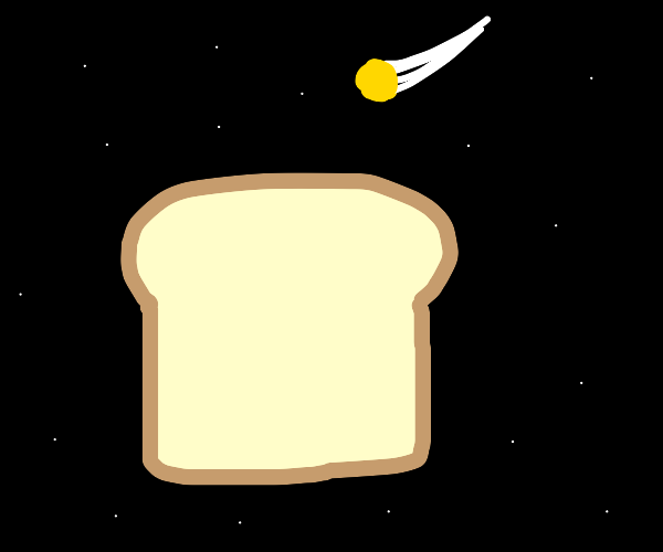 Shooting star and moldy bread