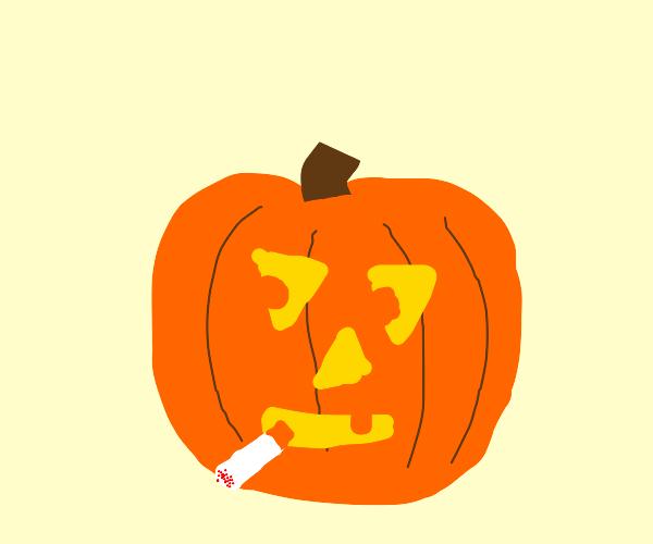 Pumpkin head risks lung disease