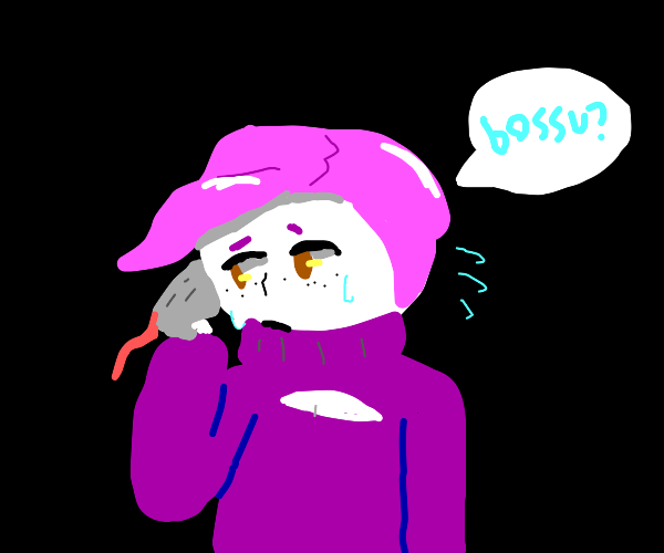 worried Doppio trys to contact the bossu.
