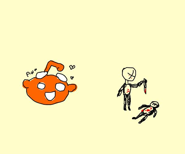 Reddit misinterprets violence as wholesome