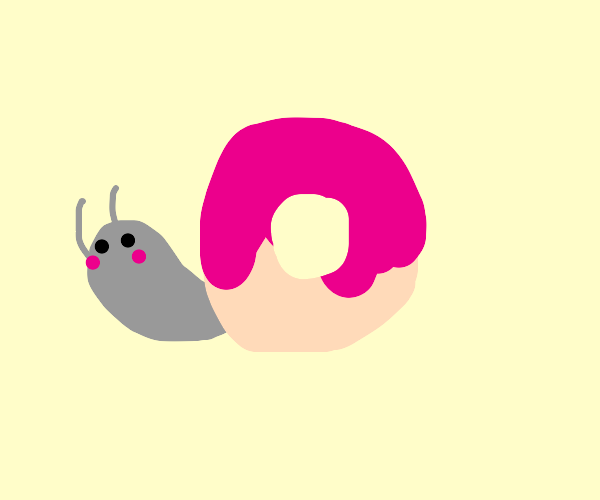 snail has donut for a shell