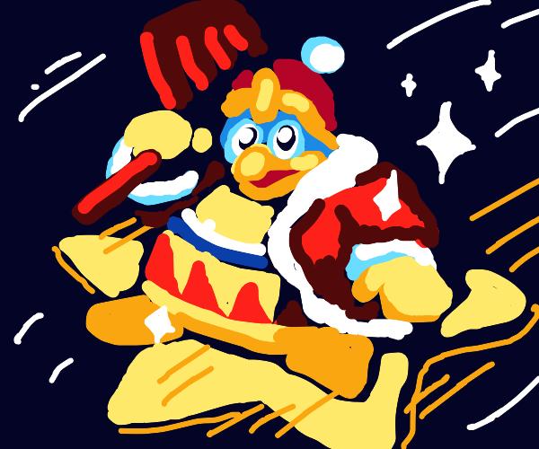 king dedede gets his own warp star (kirby)