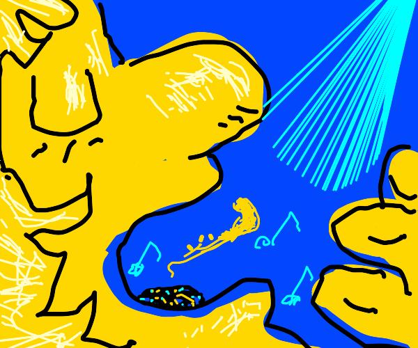 girl inhaling  saxophone
