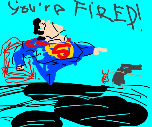 Superman firing a gun