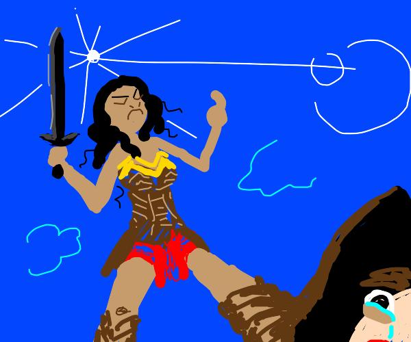 mean superhero woman