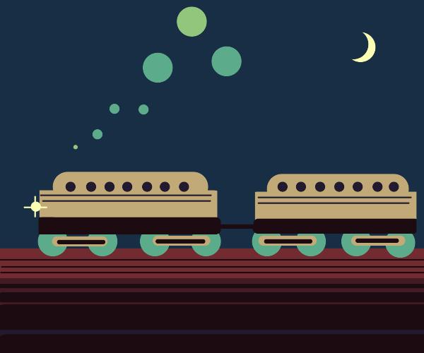 A train at night