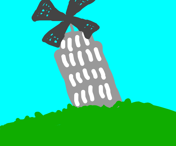 Leaning windmill of Pisa