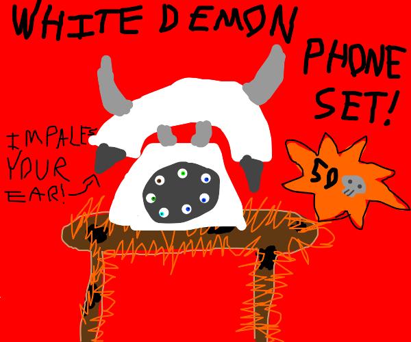 White Demon Phone Set