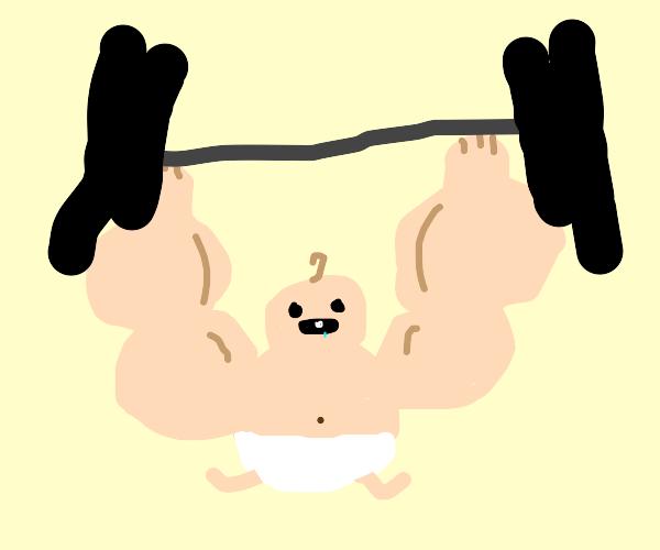 Baby bodybuilder