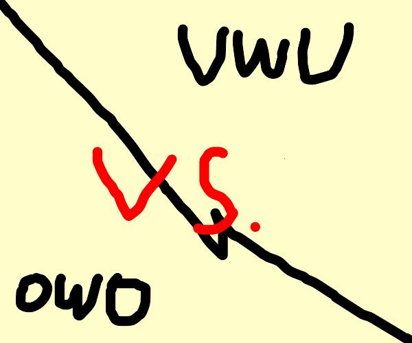 UwU vs OwO