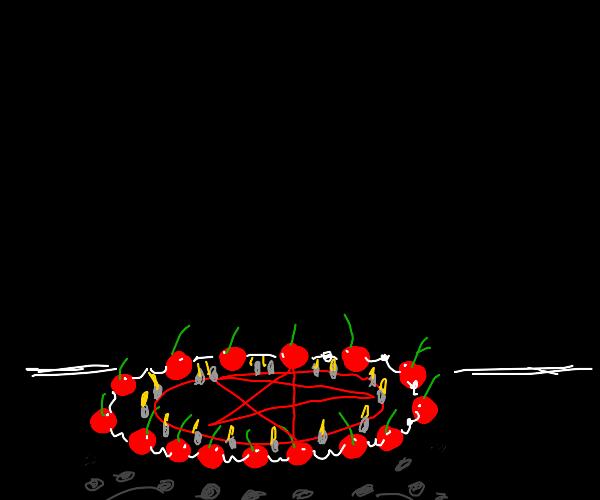 cherry ritual in progress