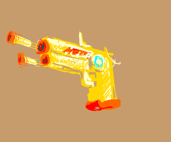A nerf gun.