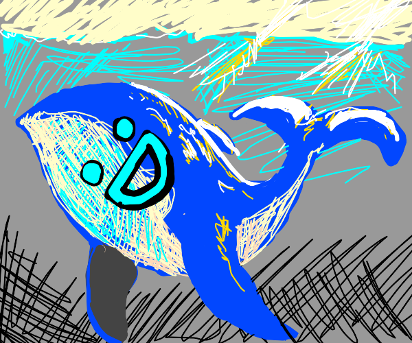 Happy whale, under the sea :D