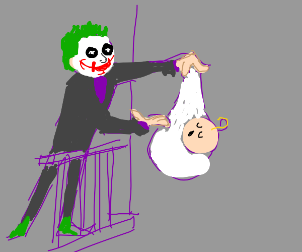 joker sacrificing the baby