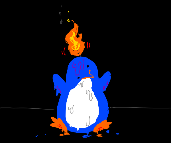 Friendly Penguin Candle
