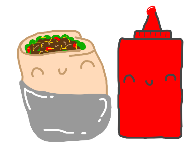 burritos with ketchup