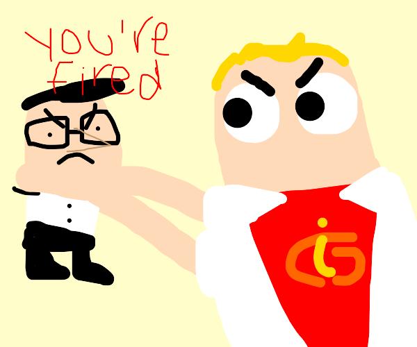 Mr. Incredible chokes his boss