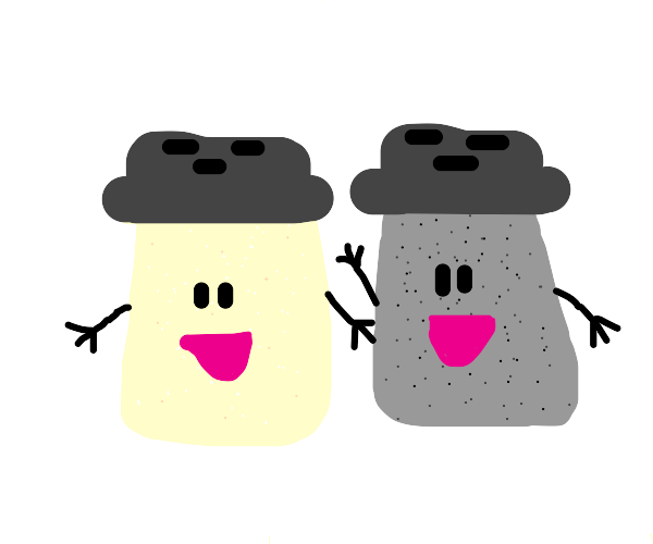 Salt and pepper from blues clues