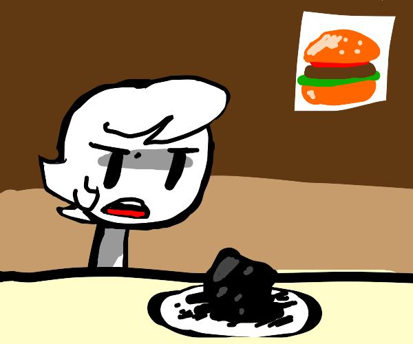 girl eat burngor