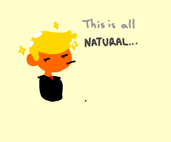 Trump says: hair not dyed