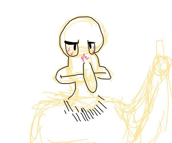 unimpressed crackhead squidward