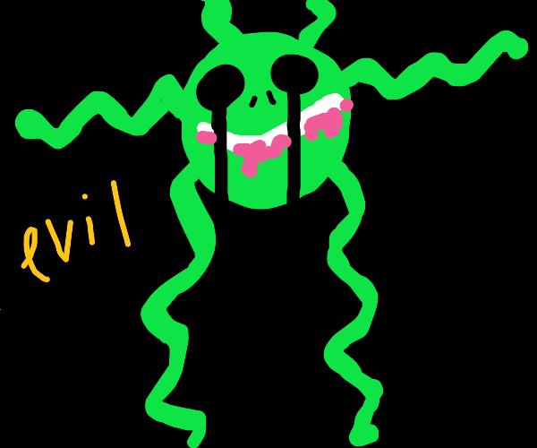 evil green alien