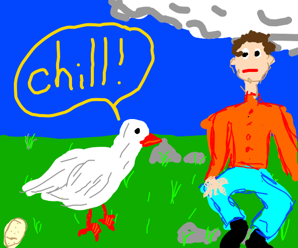 chicken tells you to chill