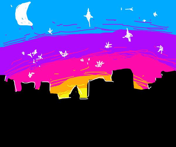 Nighttime Cityscape