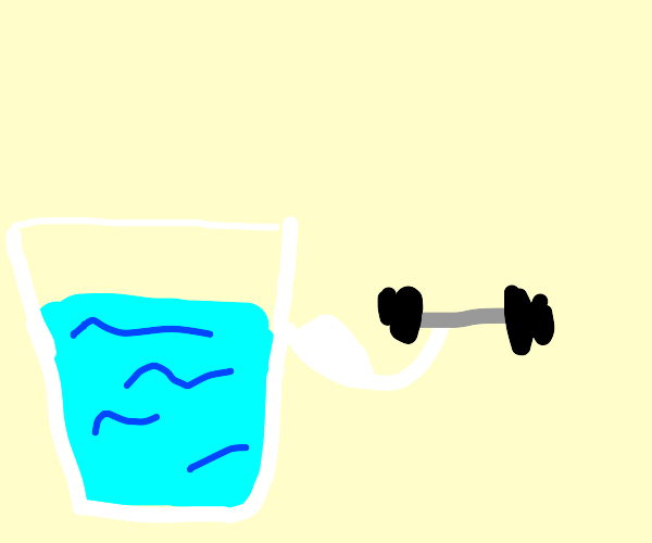 Water lifting weights